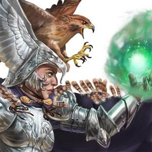 a wizard wearing armor