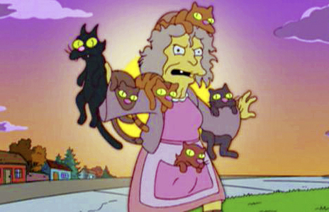 Simpsons crazy cat lady