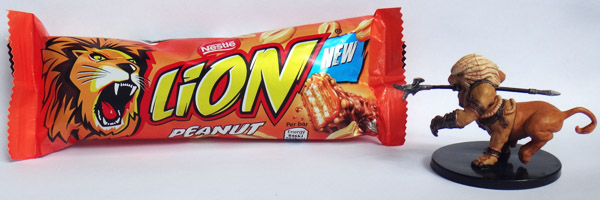 Nestle Lion Bar and a Wemic