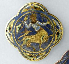 A medieval sagittary, or lion-centaur