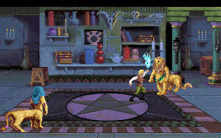 A screen grab of liontaurs from the Quest for Glory II game