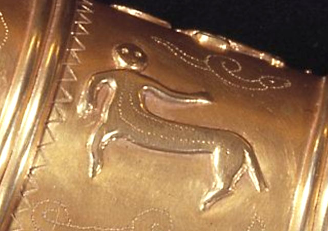 lion?taur on the Golden Horns of Denmark