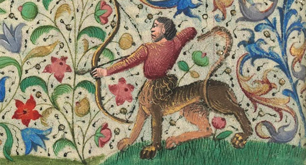 medieval French lion centaur
