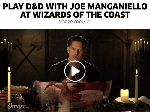 Charity drive offering donors a chance to play D&D with Joe